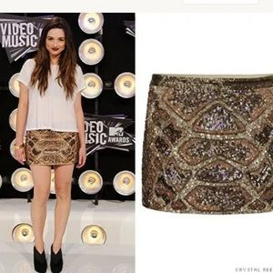All Saints | Spitafields Sequin Python Skirt